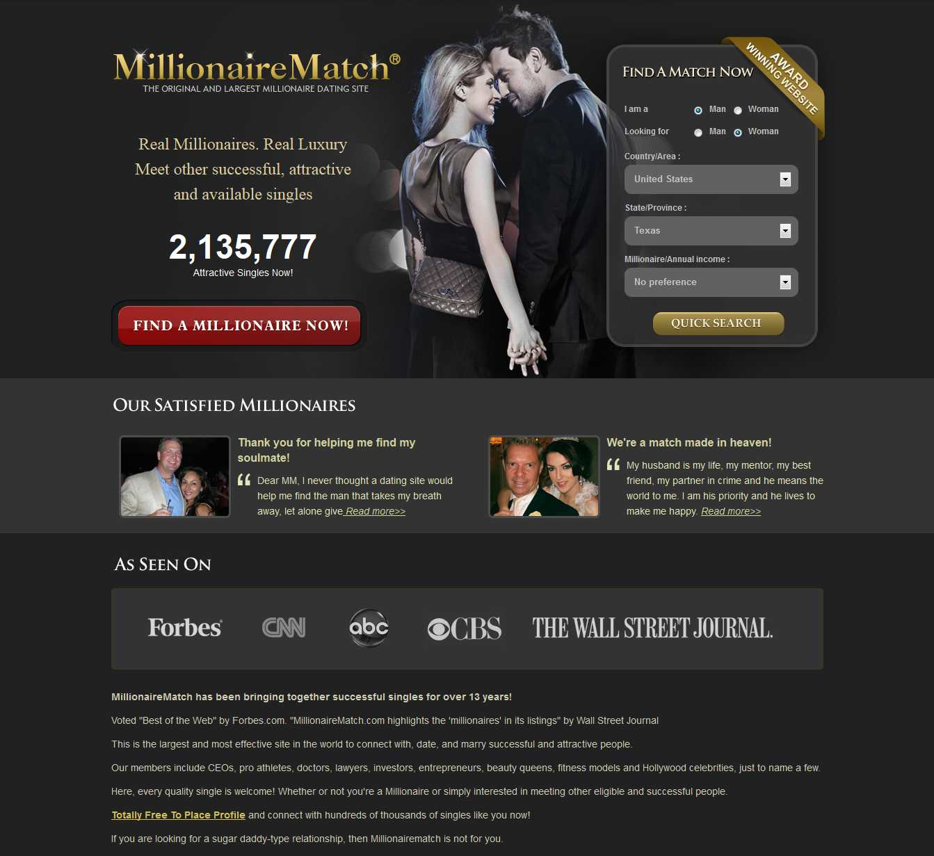 Billionaire dating sites free