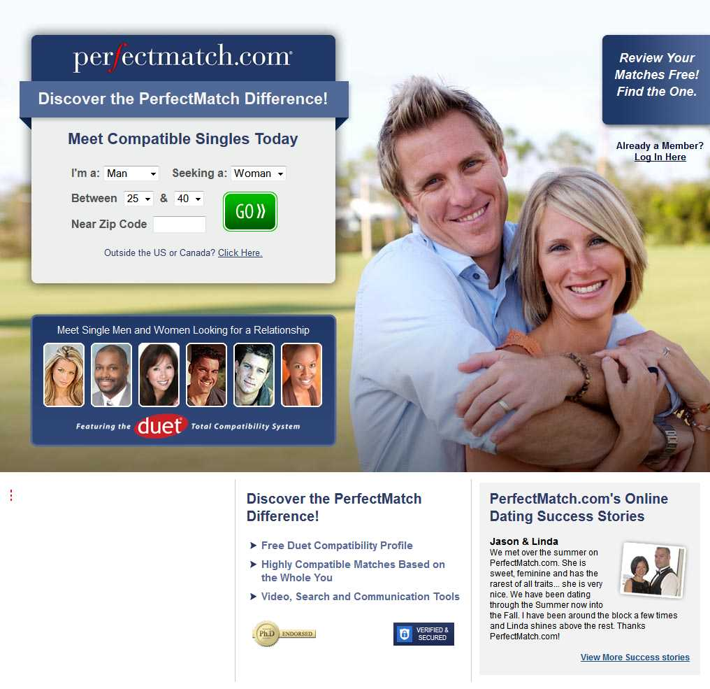 PerfectMatch.com screen1
