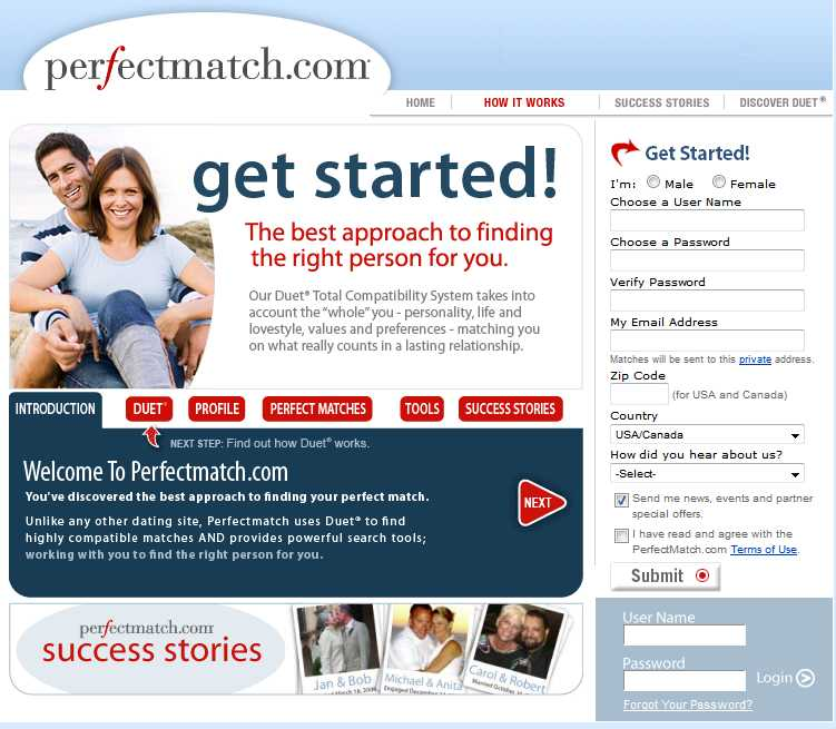 PerfectMatch.com screen4