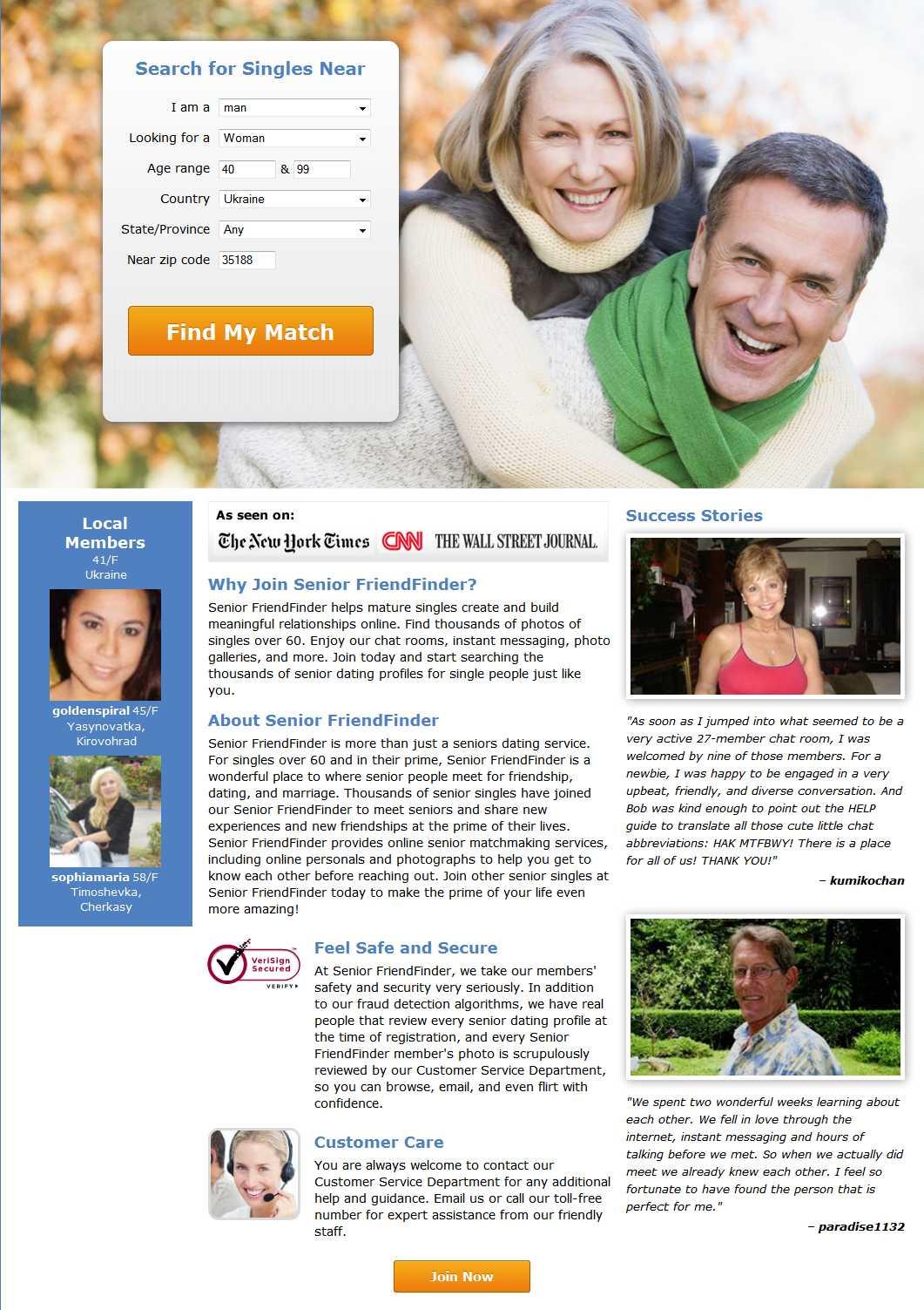 Seniorfriendfinder.com screen1