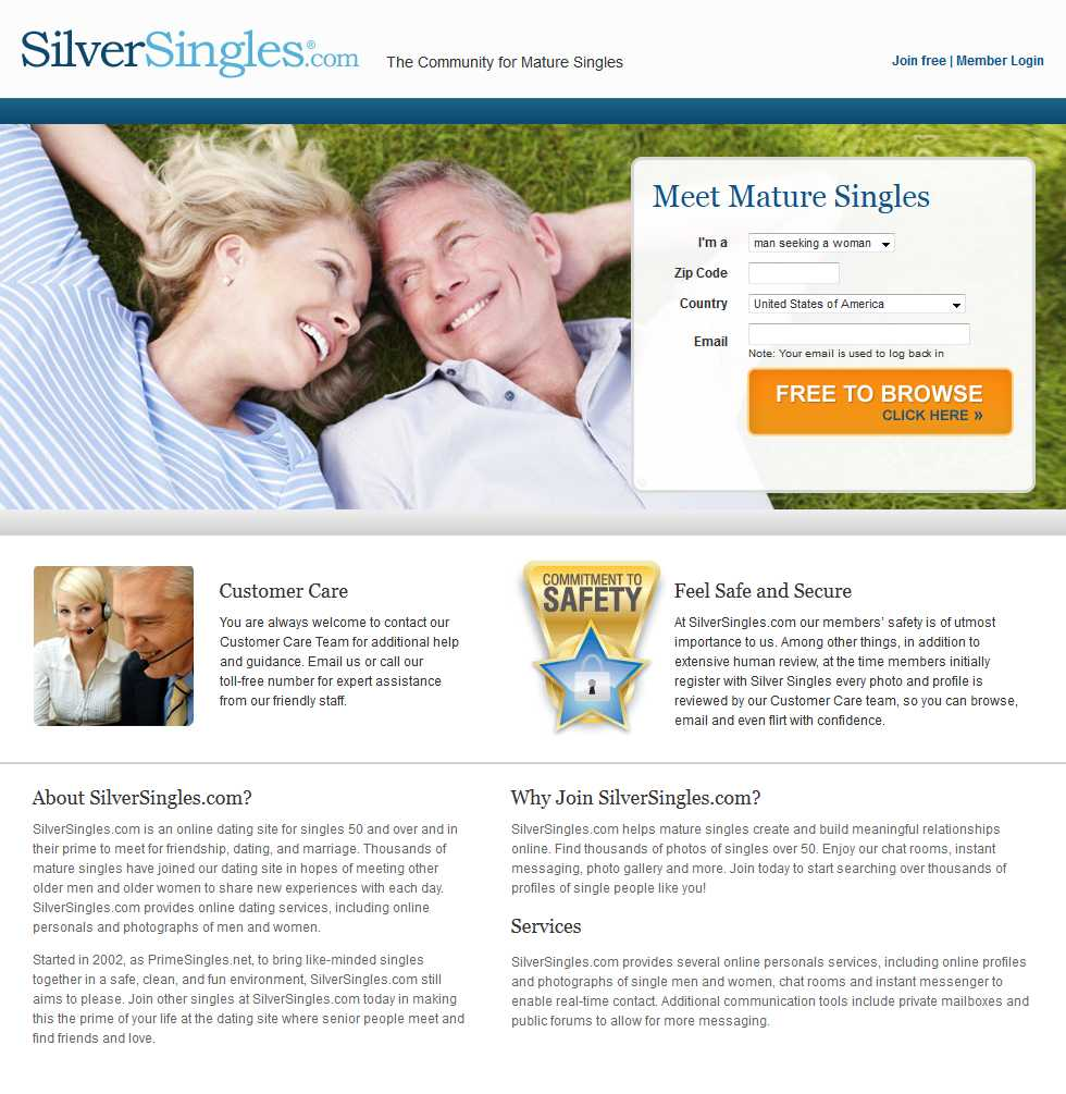 SilverSingles.com screenshot1