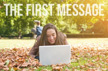 How to write first message on dating site